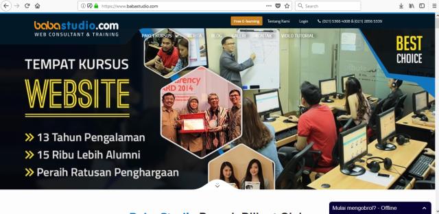 Kursus Online dan Belajar Online Bersertifikat
