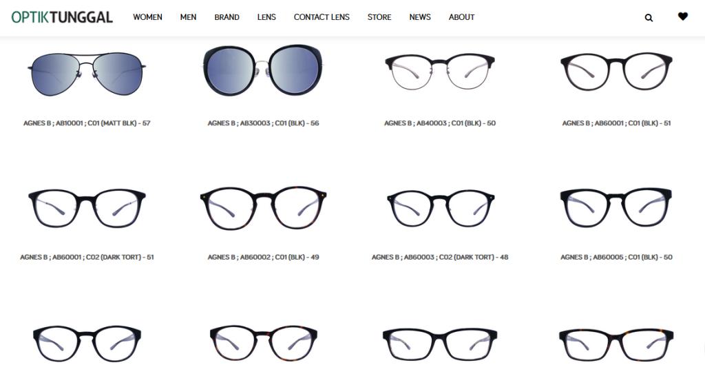 Produk-Produk Kacamata Optik Tunggal