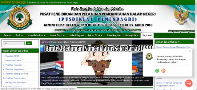 Info Bimtek Pusdiklat Pemendagri Terupdate