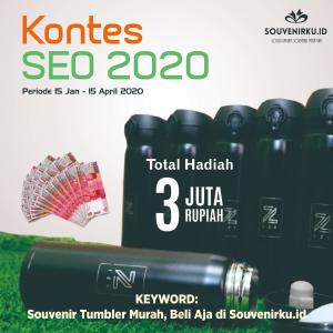 Kontes SEO Terbaru 2020 Souvenir Tumbler